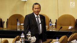 Ketua BPK Moermahadi Soerja Djanegara saat Rapat Paripurna DPD di Jakarta, Jumat (5/10). BPK menyerahkan Ikhtisar Hasil Pemeriksaan Semester (IHPS) I BPK kepada DPD. (Liputan6.com/JohanTallo)