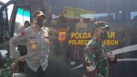 Kapolda Jabar Irjen Pol Rudy Sufahriadi sudah berkoordinasi dengan Polda Jateng untuk memperketat penyekatan mengantisipasi arus balik Lebaran ditengan pandemi covid-19. Foto (Liputan6.com / Panji Prayitno)