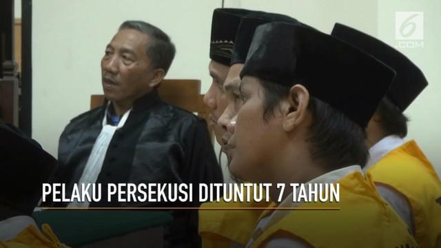 Pelaku persekusi terhadap pasangan di Tangerang dituntut 7 tahun penjara.