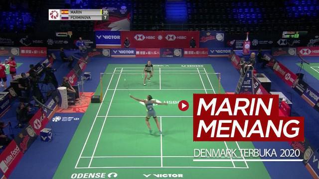 Berita video buat yang kangen pertandingan bulutangkis, highlights Carolina Marin menang pada babak pertama Denmark Terbuka 2020 mungkin bisa mengobati.