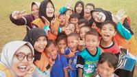 Potret keceriaan anak-anak korban gempa Banjarnegara di pengungsian. (Foto: Liputan6.com/BPBD BNA/Muhamad Ridlo)