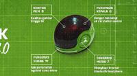 "Ilustrasi helm pintar ""Headgear 2.0"" Go-Jek. Foto: Twitter Go-Jek"