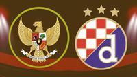 Laga persahabatan IIndonesia U-19 vs Dinamo Zagreb U-19. (Bola.com/Dody Iryawan)