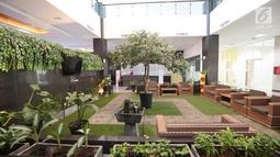Suasana ruang tunggu yang berada di gedung baru Lembaga Perlindungan Saksi dan Korban (LPSK), Jakarta, Kamis (6/9). Gedung khusus untuk kantor LPSK ini diharapkan dapat memaksimalkan kinerja lembaga tersebut. (Liputan6.com/Faizal Fanani)