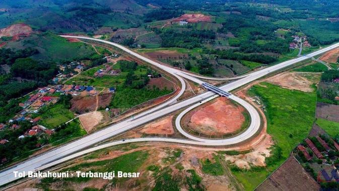 Simpang Susun di Tol Trans Sumatra. Dok: Laman Facebook Presiden Joko Widodo