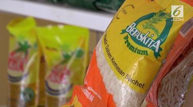 Untuk memenuhi kebutuhan masyarakat ekonomi lemah, Perum Badan Urusan Logistik (Bulog) Sumatera Utara, menyalurkan beras murah dengan kemasan sachet seharga 2.500 rupiah.