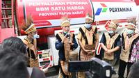 BPH Migas meresmikan secara bersamaan 15 penyalur baru guna mendistribusikan program bahan bakar minyak (BBM) 1 harga. (Dok BPH Migas)