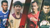Trivia - Pemain Firza Andika, Riko Simanjuntak, Paulo Sitanggang, Ghozali Siregar (Bola.com/Adreanus Titus)