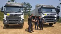 Setelah menghadirkan teknologi power steering, Volvo Trucks Indonesia kembali memperkenalkan Volvo Dynamic Steering. (Arief / Liputan6.com)