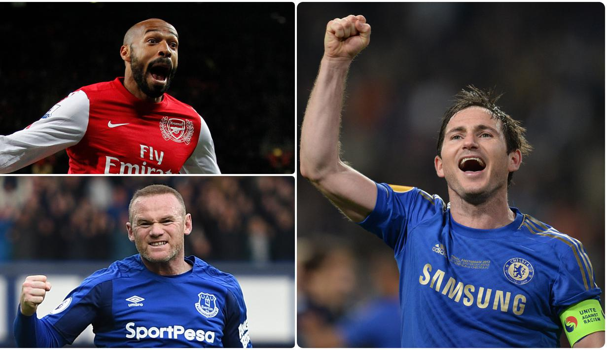 Premier League banyak dihuni oleh pemain-pemain bintang, beberapa diantara mereka mejadi pencetak gol terbanyak dalam sejarah kompetisi Premier League. Berikut pemain yang menjadi top skor dalam sejarah Premier League. (kolase foto AFP)