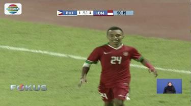Timnas Indonesia kandaskan Filipina dengan cetak empat gol sepuluh menit jelang laga Piala AFF U-19 usai.