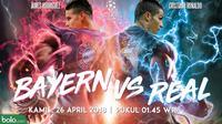 Semifinal Liga Champions 2017/2018 Bayern Munchen Vs Real Madrid (Bola.com/Adreanus Titus)