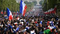 Ilustrasi bendera Prancis (AFP/Eric Feferberg)