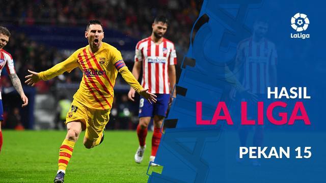 Berita video hasil La Liga 2019-2020 pekan ke-15. Barcelona kalahkan Atletico madrid dengan skor tipis 1-0.