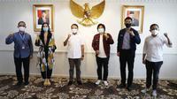 Menteri Pemuda dan Olahraga Republik Indonesia (Menpora RI) Zainduin Amali menerima audiensi dari Badan Pengurus Pusat (BPP) Himpunan Pengusaha Muda Indonesia (HIPMI) di Lantai 10, Kemenpora. (foto:egan/kemenpora.go.id)