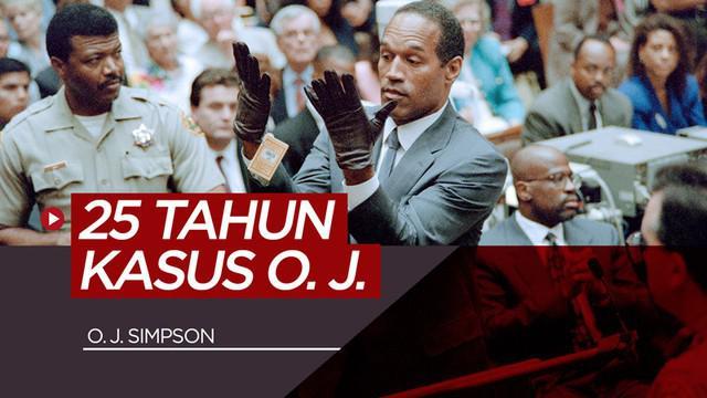Berita video mengenang 25 tahun kasus pembunuhan yang melibatkan mantan atlet American Football, O. J. Simpson.
