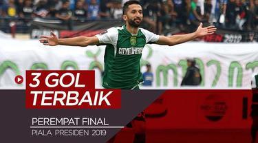 Berita video gol-gol terbaik yang tercipta pada perempat final Piala Presiden 2019.