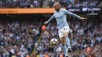 Pemain Manchester City, David Silva memimpin puncak klasemen pemain dengan assists terbnyak hingga pekan ke-11. Total Silva telah melakukan tujuh kali assists untuk timnya.  AFP/Oli Scarff)