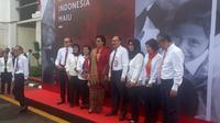 Menteri Keuangan Sri Mulyani merayakan hari ulang tahun ke-74 Republik Indonesia bersama keluarga besar Kementerian Keuangan, Sabtu (17/8/2019).
