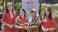 AirAsia meresmikan program JourneyD atau Journey for Development di Desa Bonjeruk, Lombok Tengah, pada Selasa, (26/11).
