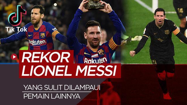 TikTok Bola.com rekor Lionel Messi. (Bola.com/Dody Iryawan)