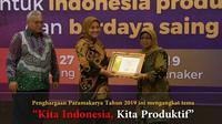 Dirjen Pembinaan Pelatihan dan Produktivitas (Binalattas), Bambang Satrio Lelono mengatakan kegiatan ini sebagai bentuk penghargaan seluruh perusahaan dalam meningkatkan produktivitas selama 3 tahun berturut-turut. (Foto:@Kemnaker)