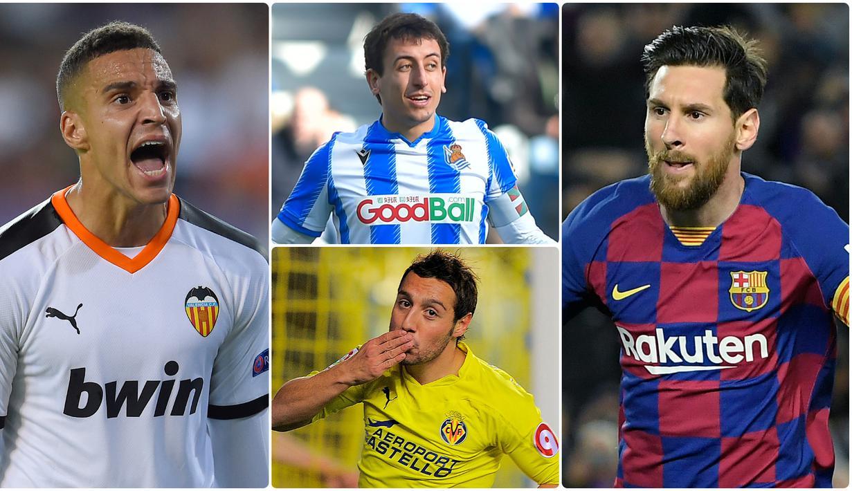 Kemampuan pemain dalam memberikan assist menjadi faktor penting untuk memperbesar peluang terjadinya sebuah gol dalam pertandingan. Lionel Messi menjadi salah satu pemain yang banyak menyumbangkan assist untuk Barcelona. Berikut 6 raja assist La Liga di musim 2019/2020. (kolase foto AFP)