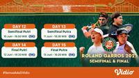 Pertandingan Babak Final Grand Slam French Open 2021 di Vidio, 10-13 Juni 2021. (Sumber : dok. vidio.com)