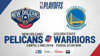 Playoff 2018 New Orleans Pelicans Vs Golden State Warrios_Game 3 (Bola.com/Adreanus Titus)