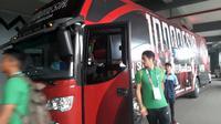 Gavin Kwan Adsit saat tiba di Stadion Patriot Candrabhaga, Bekasi, untuk menjalani laga perdana penyisihan Grup A Asian Games 2018 melawan Chinese Taipei, Minggu (12/8/2018). (Bola.net/Fitri Apriani)