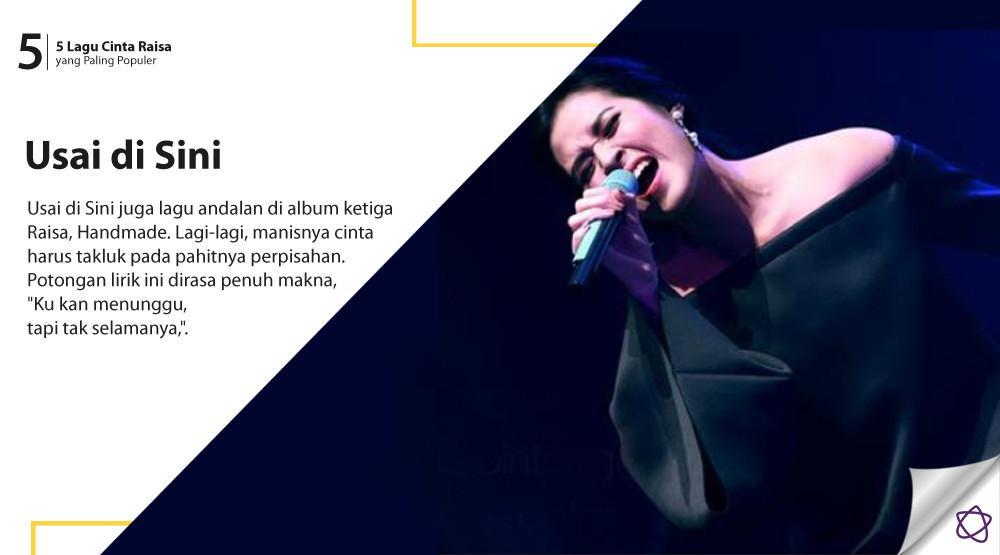 5 Lagu Cinta Raisa yang Paling Populer. (Foto: Adrian Putra/Bintang.com, Desain: Nurman Abdul Hakim/Bintang.com)