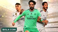 Real Madrid - Federico Valverde, Isco, Eden Hazard, Zinedine Zidane (Bola.com/Adreanus Titus)