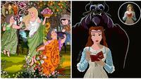 Karakter Disney Mirip Lukisan Terkenal. (Sumber: Boredpanda)