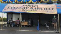 Posko darurat corona Covid-19 di Kota Malang di Balai Kota Malang. Pasien positif virus corona baru di kota ini memiliki riwayat perjalanan yang beragam (Liputan6.com/Zainul Arifin)