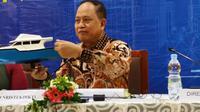 Menristekdikti, Mohamad Nasir menghadiri konferensi pers Indonesian Startup Summit (ISS). Liputan6.com/Andina Librianty
