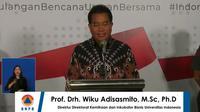 Prof drh Wiku Adisasmito, M.Sc, Ph.D, Direktur Direktorat Kemitraan dan Inkubator Bisnis Universitas Indonesia, dalam konferensi pers BNPB di Jakarta, Minggu (22/3).