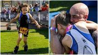 Keterbatasan pada kaki yang dimiliki Bailey, tak sedikit pun mematahkan semangatnya merampungkan lomba lari. (Daily Mail)
