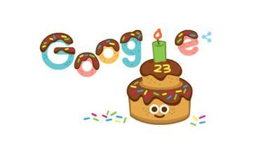 Google Doodle menyambut ulang tahun ke-23 Google