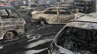 Kebakaran akibat kapal tanker meledak di Nigeria. (Federal Road Safety Corps Nigeria)