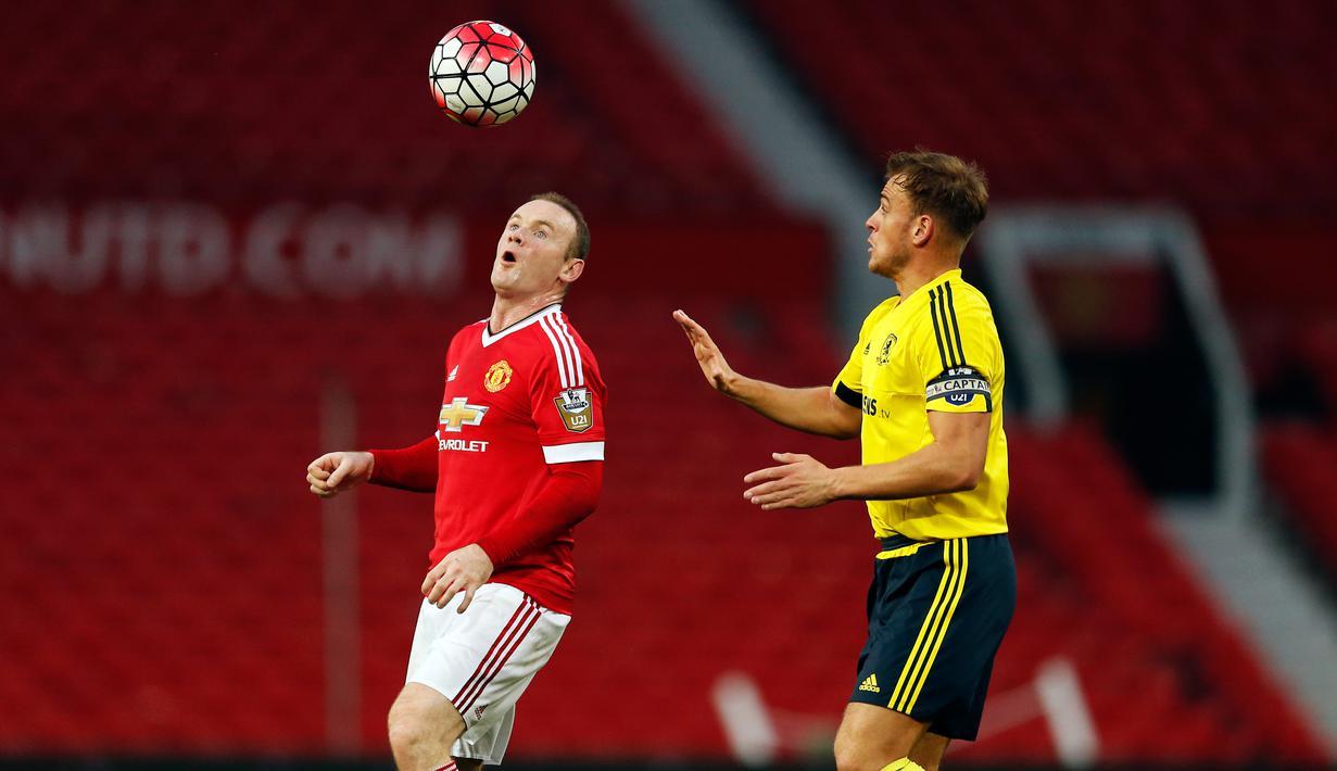 Wayne Rooney Turun Kasta Ke Skuat MU U 21 Foto Liputan6