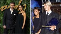 David Beckham-Victoria Beckham di tahun 2019 dan 1999. (Daniel LEAL-OLIVAS/VANINA LUCCHESI/AFP)