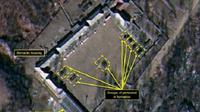 Citra satelit yang menunjukkan beberapa aktivitas di Punggye-ri Nuclear Tes Site, Korea Utara (sumber: North 38)