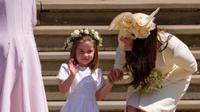 Putri Charlotte terlihat menggemaskan di pernikahan Pangeran Harry dan Meghan Markle. (Instagram.com/Kengsingtonroyal)