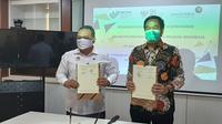 Penandatanganan nota kesepakatan antara Direktur Utama PT Angkasa Pura II, Muhammad Awaluddin, dengan Kepala BP2MI Benny Ramdani, di Terminal 3 Bandara Soekarno Hatta, Jumat (4/9/2020).