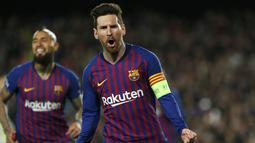 1. Lionel Messi (Barcelona) - 34 gol dan 13 assist (AFP/Pau Barrena)