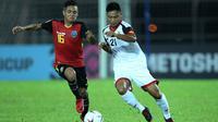Duel Timor Leste vs Brunei di Stadion Kuala Lumpur, Malaysia (1/9/2018), pada leg pertama kualifikasi Piala AFF 2018. (Bola.com/Dok. AFF)