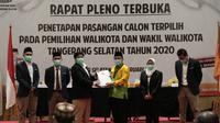 Benyamin Davnie dan Pilar Saga Ihsan ditetapkan sebagai Wali Kota dan Wakil Wali Kota Tangerang Selatan periode 2021-2024.