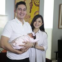 Preskon Kelahiran anak pertama Franda dan Samuel Zylgwyn (Nurwahyunan/bintang.com)