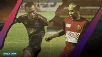 Striker timnas berkostum PSM Makassar: Ferdinand Sinaga dan Kurniawan Dwi Yulianto. (Bola.com/Dody Iryawan/Foto:Abdi Satria)