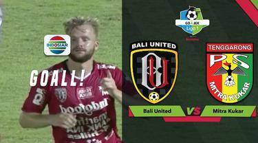 Berita video momen gol Melvin Platje yang mengantarkan Bali United menang 1-0 atas Mitra Kukar dalam lanjutan Gojek Liga 1 2018 bersama Bukalapak, Senin (15/10/2018).